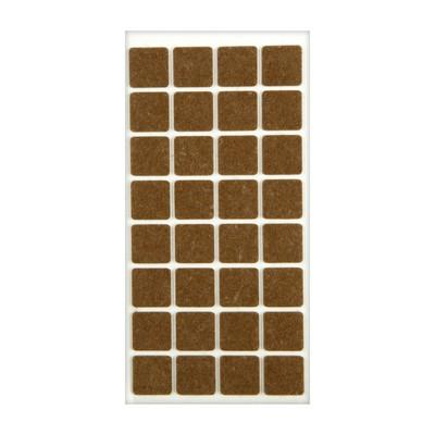 Подпятник войлочный 25х25 мм, 32 шт., цвет коричневый - Фото 1