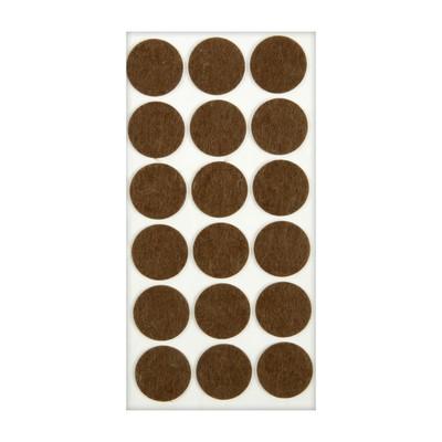 Подпятник войлочный d=35 мм, 18 шт., коричневый. - Фото 1