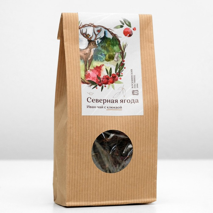 Иван-чай крупнолистовой c клюквой «Северная ягода», 50 г