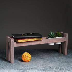 Полка деревянная 'Ручная', цвет серо-фиолетовый, 18 х 50 х 10 см Ош