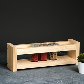 Полка деревянная 'Специи', цвет кремовый, 12 х 36 х 10 см Ош