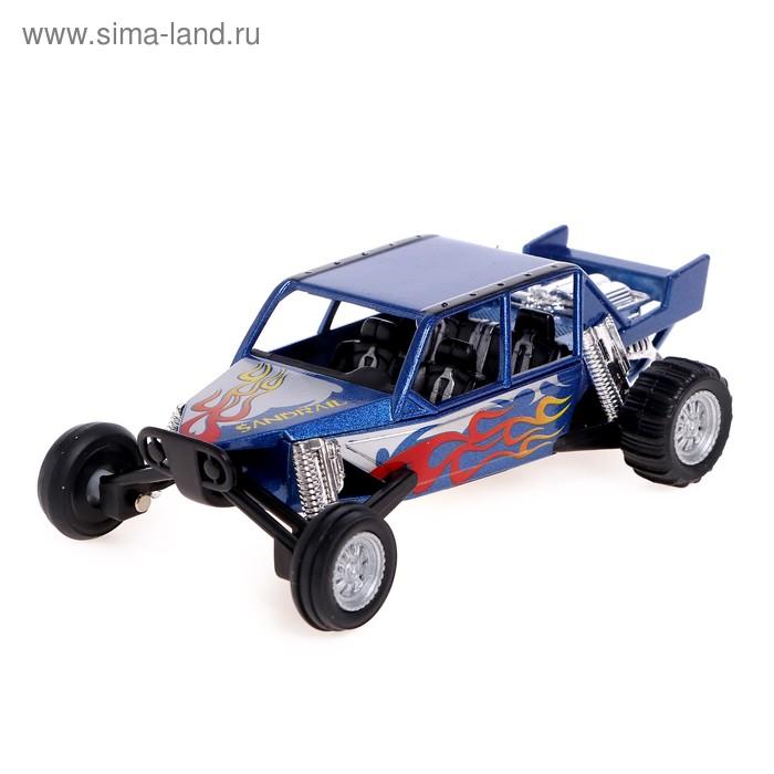 Машина металлическая Turbo Sadrail, инерция, цвет синий
