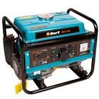 Генератор бензиновый Bort BBG-1500, 1 кВт, 220/12 В, ручной стартер, четырехтактный