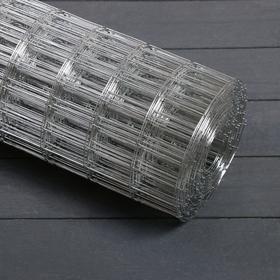 Сетка оцинкованная, сварная 0,5 × 10 м, ячейка 25 × 50 мм, d = 1 мм, металл Ош