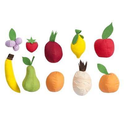 Набор фруктов, 10 предметов, с карточками - Фото 1