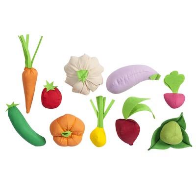 Набор овощей, 10 предметов, с карточками - Фото 1