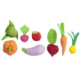 Набор овощей, 8 предметов, с карточками