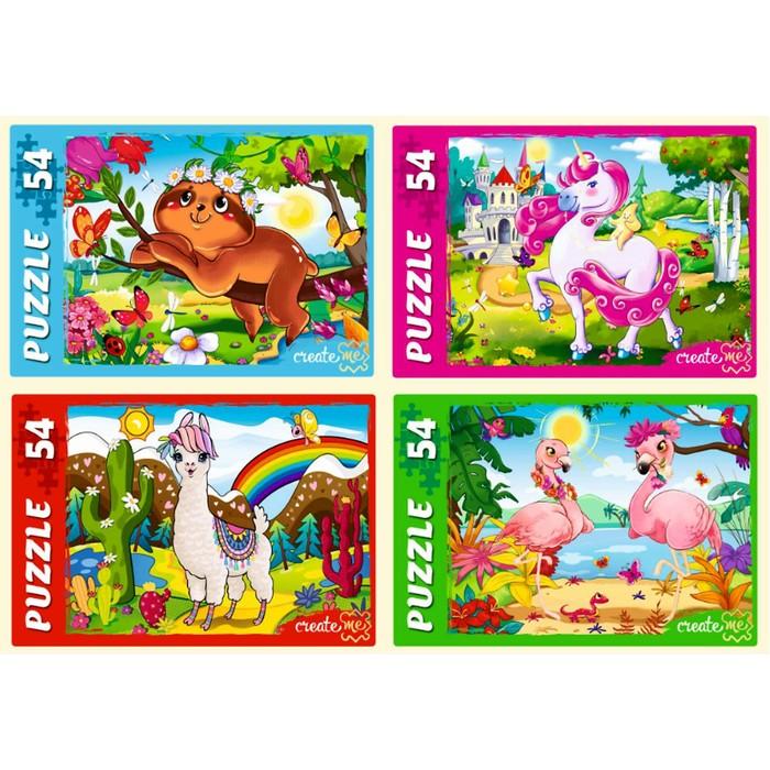 Пазл 54 элемента «Волшебный мир животных», МИКС