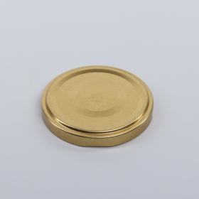 Крышка металлическая, лакированная «Елабужские крышки. Золотая», d=6,6 см, твист-офф, с клапаном Ош
