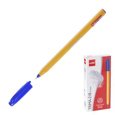 Ручка шариковая Cello Trima-21B узел 0,7мм, чернила синие 6326 - Фото 1