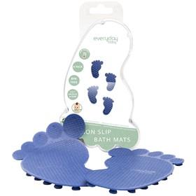 Антискользящие коврики для ванной Everyday Baby, с индикатором температуры, цвет cиний, 4 шт.   5044