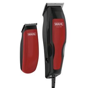 Машинка для стрижки Wahl 1395-0466, 9 Вт, 8 насадок, ширина 40 мм, от сети, красная