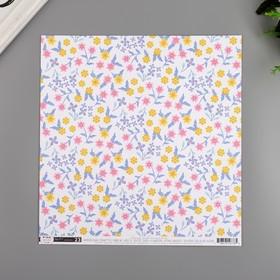 """Бумага для скрапбукинга Pink Paislee """"Horizon23"""" 30.5х30.5 см, 190 гр/м2"""