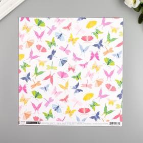 """Бумага для скрапбукинга Pink Paislee """"Horizon7"""" 30.5х30.5 см, 190 гр/м2"""