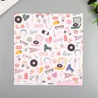 "Бумага для скрапбукинга Crate Paper ""Cute Stuff"" 30.5х30.5 см, 190 гр/м2"