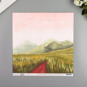 "Бумага для скрапбукинга двусторонняя ""Mountain Path"" 30.5х30.5 см, 190 гр/м2"