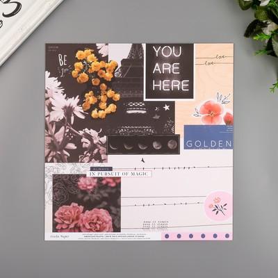 """Бумага для скрапбукинга Crate Paper """"Shine On"""" 30.5х30.5 см, 190 гр/м2"""