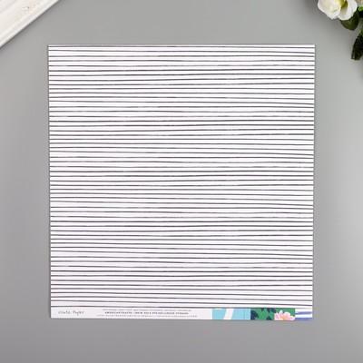 """Бумага для скрапбукинга Crate Paper """"Happy Place"""" 30.5х30.5 см, 190 гр/м2"""