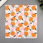 "Бумага для скрапбукинга двусторонняя ""Peachy"" 30.5х30.5 см, 190 гр/м2"