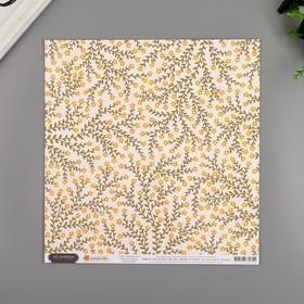 """Бумага для скрапбукинга Pebbles """"GROWING FLORAL"""" 30.5х30.5 см, 190 гр/м2"""