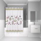 Штора для ванной комнаты IDDIS PEVA P28PV11i11, 180х180 см