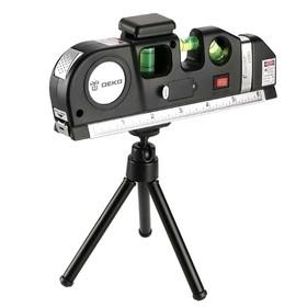 Уровень лазерный DEKO SP001 SET, 2 луча, цвет красный, вертикаль/горизонталь, штатив