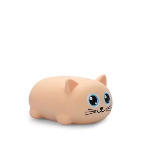 Игрушка музыкальная Happy Baby Soft & Joy «Котик», цвет бежевый