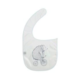 Нагрудник детский для кормления Happy Baby bear, на липучке