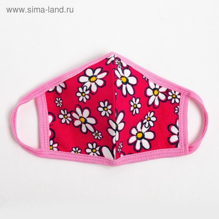 Повязка тканевая для девочки, цвет розовый микс, возраст 7-12 лет