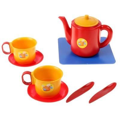 Посуда для кукол «Набор чашек с чайником», 8 элементов - Фото 1