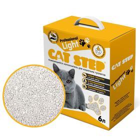 Наполнитель минеральный комкующийся CAT STEP Professional Light, 6л