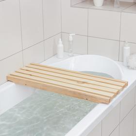 Решётка трап-сиденье на ванну 70×27×4 см, сосна, 1 сорт Ош
