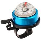 Звонок велосипедный с компасом, цвет синий