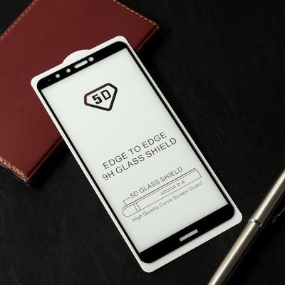 Защитное стекло Cassedy Full Cover, для Huawei Y9 (2018), полный клей, чёрная рамка