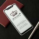 Защитное стекло Cassedy Full Cover, для Xiaomi Mi 8, полный клей, чёрная рамка