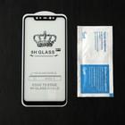 Защитное стекло Cassedy Full Cover, для Xiaomi Mi 8, полный клей, чёрная рамка - Фото 2