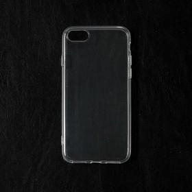 Чехол Qumann, для iPhone 7/8, силиконовый, прозрачный