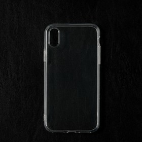 Чехол Qumann, для iPhone X/ Xs, силиконовый, прозрачный