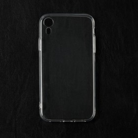 Чехол Qumann, для iPhone XR, силиконовый, прозрачный
