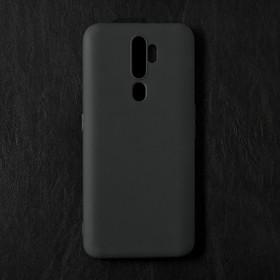 Чехол Qumann, для OPPO A5 2020 /A9 2020, силиконовый, матовый, черный