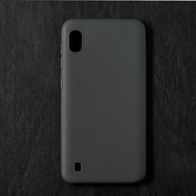 Чехол Qumann, для Samsung (A105) Galaxy A10, силиконовый, матовый, черный