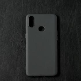 Чехол Qumann, для Samsung (A107) Galaxy A10s, силиконовый, матовый, черный
