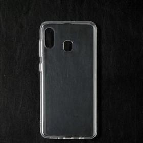 Чехол Qumann, для Samsung (A205/А305) Galaxy A20/ A30, силиконовый, прозрачный