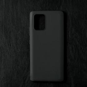 Чехол Qumann, для Samsung (G770F) Galaxy S10 LITE, силиконовый, матовый, черный