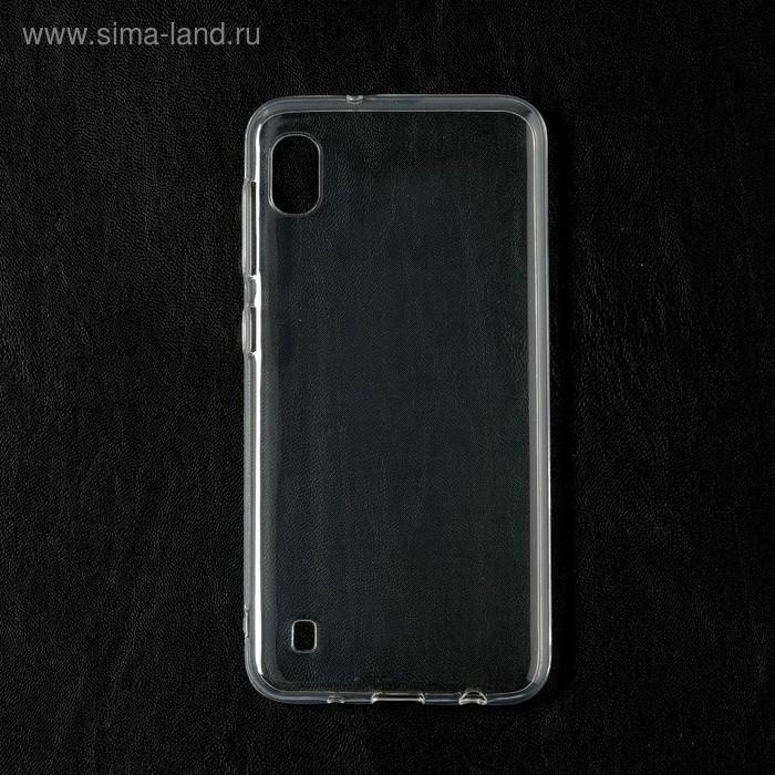 Чехол Qumann, для Samsung (А105) Galaxy A10, силиконовый, прозрачный