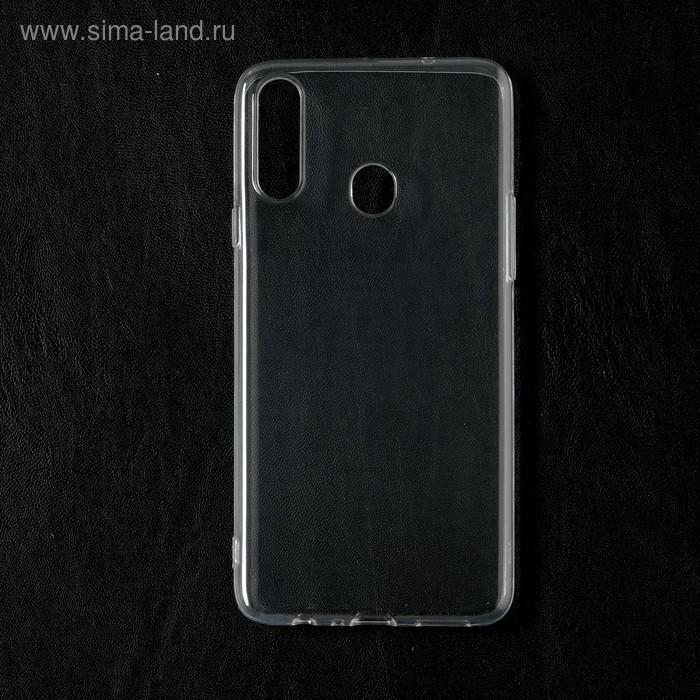 Чехол Qumann, для Samsung (А207) Galaxy A20s, силиконовый, прозрачный