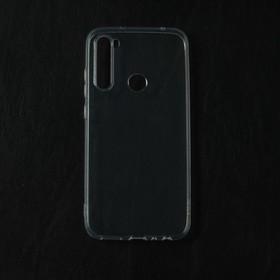 Чехол Qumann, для Xiaomi Redmi Note 8, силиконовый, прозрачный
