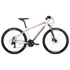 "Велосипед 27,5"" Forward Apache 3.0 disc, 2020, цвет белый/оранжевый, размер 15"""