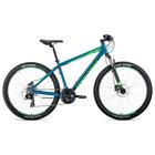 """Велосипед 27,5"""" Forward Apache 3.0 disc, 2020, цвет бирюзовый/светло-зеленый, размер 19"""""""