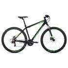 """Велосипед 29"""" Forward Apache 3.0 disc, 2020, цвет черный/светло-зеленый, размер 19"""""""